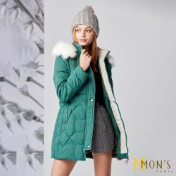 MONS時尚修身顯瘦鋪棉保暖大衣(3色任選)