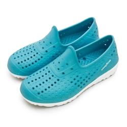 【GOODYEAR 固特異】女 排水透氣輕便水陸多功能休閒洞洞鞋(湖水藍 82806)