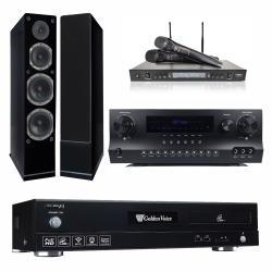 金嗓 CPX-900 F1 點歌機4TB+Danweigh DW 1+DoDo Audio SR-889PRO+Austin AS-168(黑)
