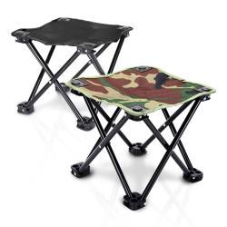 [活力揚邑] 加大戶外露營登山便攜四腳折疊椅釣魚烤肉排隊室內小板凳送收納袋