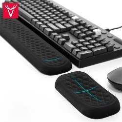 Vaydeer鹿為 透氣緩壓記憶棉鍵盤墊+滑鼠墊組合