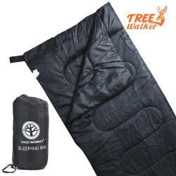 TreeWalker 輕便纖維睡袋-黑