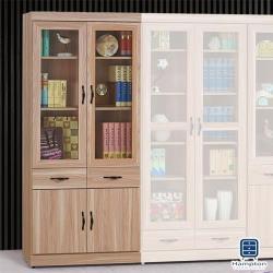 【Hampton 漢汀堡】迪安蔻原切橡木浮雕3×6尺中抽書櫥(一般地區免運費/收納櫃/櫃子/書櫃/置物櫃)