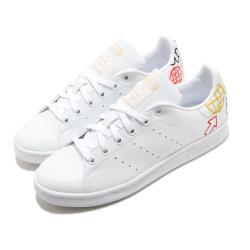 adidas 休閒鞋 Stan Smith W 低筒 女鞋 愛迪達 三葉草 塗鴉 皮革鞋面 白 彩 FX5679 [ACS 跨運動]