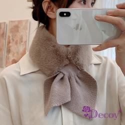 【Decoy】兔毛蝴蝶*保暖交叉針織脖圍圍巾/2色可選