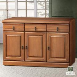 【Hampton 漢汀堡】薩默正樟木4尺碗盤櫃(一般地區免運費/餐櫃/餐櫥櫃/櫥櫃/收納櫃/置物櫃)