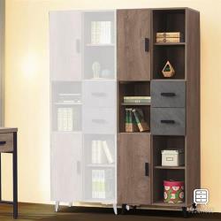 【Hampton 漢汀堡】科爾特灰橡美耐皿2.2尺書櫃(一般地區免運費/收納櫃/櫃子/書櫃/置物櫃)
