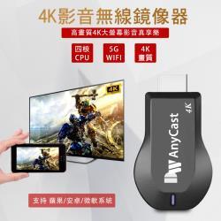 【4K影音真棒】DW AnyCast四核心雙頻5G全自動無線HDMI影音鏡像器(送4大好禮)