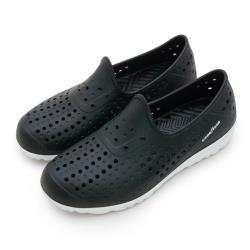 【GOODYEAR 固特異】男 排水透氣輕便水陸多功能休閒洞洞鞋(黑 83700)