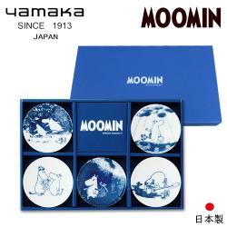 【日本山加yamaka】moomin嚕嚕米彩繪陶瓷迷你盤禮盒5入組 (MM2700-127)