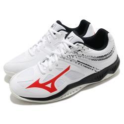 Mizuno 排球鞋 Thunder Blade 2 男鞋 美津濃 輕盈 避震 耐磨 抓地 白 紅 黑 V1GA197065 [ACS 跨運動]