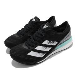 adidas 慢跑鞋 Adizero Boston 9 女鞋 愛迪達 路跑 波士頓 Boost底 緩震 黑 白 FY0342 [ACS 跨運動]