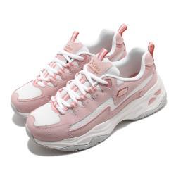 Skechers 休閒鞋 D Lites 4 厚底 女鞋 老爹鞋 膠底 防滑 穩定 修飾腿型 白 粉 149491ROS [ACS 跨運動]
