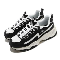 Skechers 休閒鞋 D Lites 4 厚底 女鞋 老爹鞋 膠底 防滑 穩定 修飾腿型 黑 藍 149491BKW [ACS 跨運動]