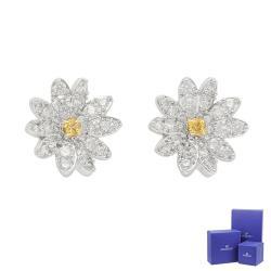 SWAROVSKI 施華洛世奇 Eternal Flower璀璨水晶雛菊造型銀色耳環 5518145