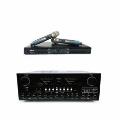 AUSKA AK-898 卡拉OK擴大機+MIPRO MR-865 雙頻道自動選訊無線麥克風