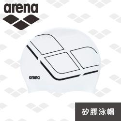 arena 矽膠泳帽 AMS0600 舒適矽膠泳帽 防水耐用游泳帽 男女長髮大號護耳泳帽
