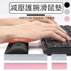 減壓護腕滑鼠墊 中號 滑鼠墊 鍵盤護腕墊
