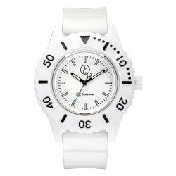 Q&Q SMILE SOLAR Unisex Armbanduhr Watch Uhr Series 3 White