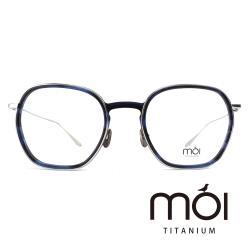 moi取意法語中的意涵-自我 / 純鈦光學眼鏡(藍色) T005_02
