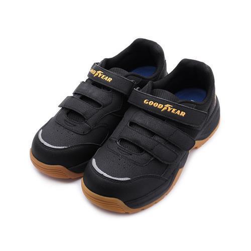 GOODYEAR巡戈三魔鬼氈安全鋼頭鞋黑黃GAMX03910男鞋鞋全家福