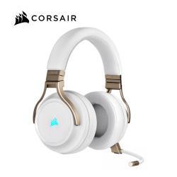 Corsair 海盜船 VIRTUOSO RGB WIRELESS 無線電競耳麥 珍珠白
