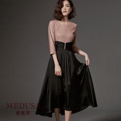 現貨【MEDUSA】優雅排釦收腰宴會小禮服洋裝 / 尾牙春酒婚宴禮服
