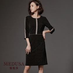 現貨【MEDUSA】毛織帶裝飾宴會小禮服洋裝 / 尾牙春酒婚宴禮服
