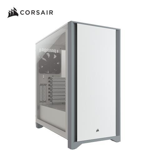 Corsair 海盜船 4000D鋼化玻璃中塔ATX電腦機殼—白色