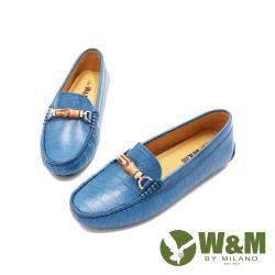 W&M(女)內增高竹飾莫卡辛鞋 女鞋-水藍(另有淺米)