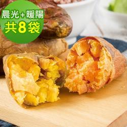 樂活e棧-晨光地瓜4袋(200g/袋)+暖陽地瓜4袋(200g/袋)