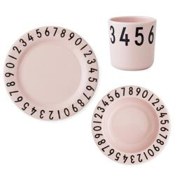 [批次上傳-20210125 hoi!]hoi! Design Letters 兒童餐盤杯3入組 粉紅