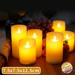 捕夢網-LED仿真蠟燭-高12.5公分款 LED 電子 假蠟燭 蠟燭燈 小蠟燭 蠟燭 擬真 搖擺 石蠟燈 搖擺燈芯