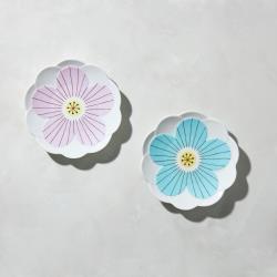 有種創意 - 日本晴九谷燒 - 花見淺盤(2件組)