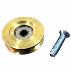 銅製培林輪仁(有溝-大)銅輪 2個入 鋁窗銅輪 鋁門銅輪 培林輪 機械輪 鋁門輪 紗窗輪 紗門輪 滑輪