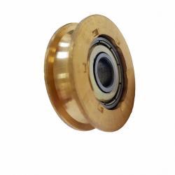 銅製培林輪仁 (有溝-加大)銅輪 2個入 鋁窗銅輪 鋁門銅輪 培林輪 機械輪 鋁門輪 紗窗輪 紗門輪 滑輪