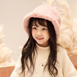 日本 BEAUTYJAPAN  兒童羊毛絨可愛抗寒保暖漁夫帽TM0126粉紅