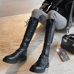 【WS】現+預 英倫風率性厚底及膝騎士靴-2款