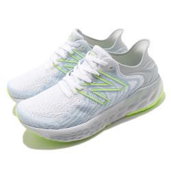 New Balance 慢跑鞋 1080v11 Wide 寬楦 運動 女鞋 紐巴倫 輕量 透氣 舒適 路跑 避震 白 藍 W1080Y11D