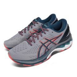 Asics 慢跑鞋 Gel-Kayano 27 2E 寬楦 男鞋 亞瑟士 路跑 透氣 高支稱 亞瑟膠 灰 橘 1011A835021