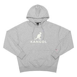 KANGOL 運動帽T 長袖 灰色 袋鼠LOGO 6951105112 noE32