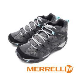 MERRELL(女)ALVERSTONE MID GORE-TEX郊山健行中筒登山鞋 女鞋-灰藍