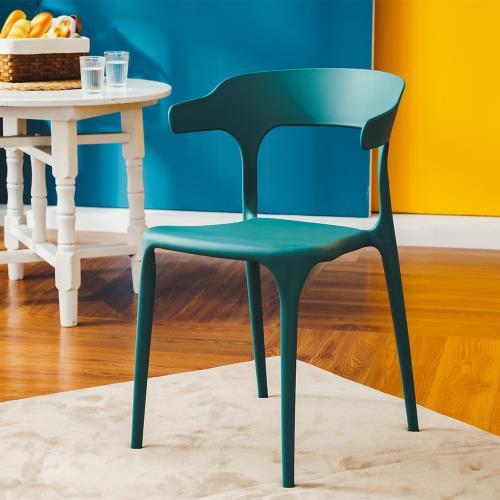 樂嫚妮時尚牛角椅/休閒椅/餐椅(2入組合)