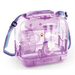 721-A攜帶別墅鼠籠(全配) -小提籠/運輸籠-附鼠槽 飲水器 滾輪 豪華鼠籠 老鼠籠子/黃金鼠/布丁鼠/倉鼠/三線鼠