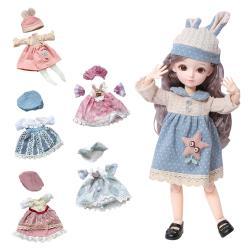31公分芭比娃娃純衣服配件-多關節可動換裝娃娃公主衣服 洋裝