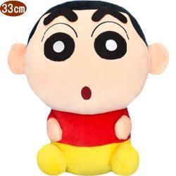 蠟筆小新絨毛娃娃玩偶坐姿款33公分 ST10566【卡通小物】