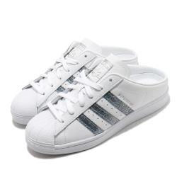 adidas 拖鞋 Superstar Mule 休閒鞋 女鞋 愛迪達 三葉草 貝殼頭 穆勒鞋 方便 白 銀 FZ2260 [ACS 跨運動]