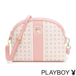 PLAYBOY -  貝殼斜背包 Bunny Poker 撲克甜心系列 - 粉色