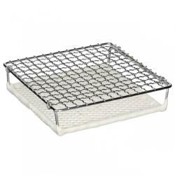 日本[丸十金網]金屬陶瓷雙層燒烤網 220mm(大)