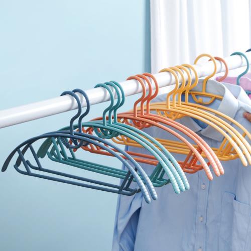 IDEA 120入-弧形無痕防滑疊掛晾曬衣架